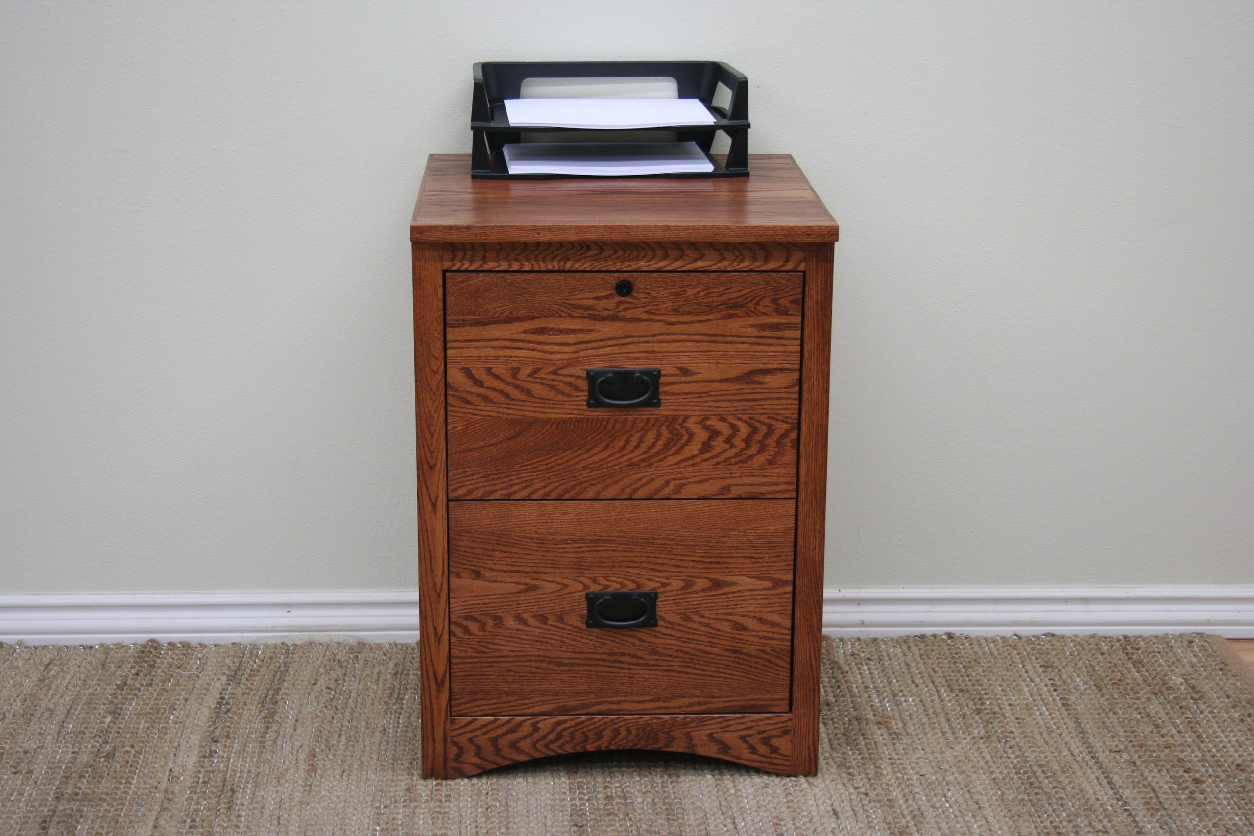 Picture of: O M646 Mission Oak 2 Drawer Locking Vertical File Cabinet 21 W X 21 D X 30 H Odc Products