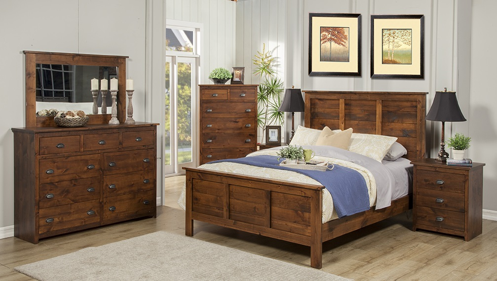 Solid Rustic Alder Bedroom